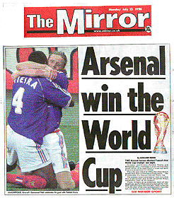 Arsenal win the World Cup